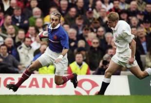 Philippe Bernat-Salles scores against England