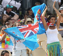 Fiji fans celebrate in the stands