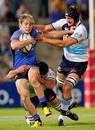 Western Force centre James O'Connor is held by the Waratahs