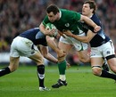 Sean Lamont and Graeme Morrison get to grips with Cian Healy