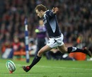 Dan Parks sends over the winning penalty for Scotland