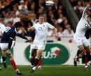 Francois Trinh-Duc attempts a drop at goal for France