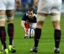 Morgan Parra lines up a French penalty