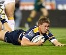 Michael Hooper touches down for the Brumbies