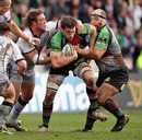 Harlequins' Tom Guest is the centre of attention