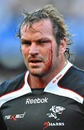 The Sharks' Jannie du Plessis takes one for the team