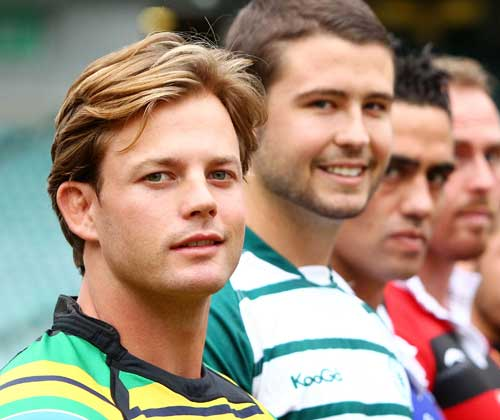Gordon captain Mike Hercus poses during the launch of the 2010 Shute Shield