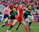 Munster's Ronan O'Gara clears his lines