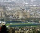 A general view of Bath's Recreation Ground stadium