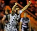 Newcastle's Jimmy Gopperth celebrates landing a match-winning kick