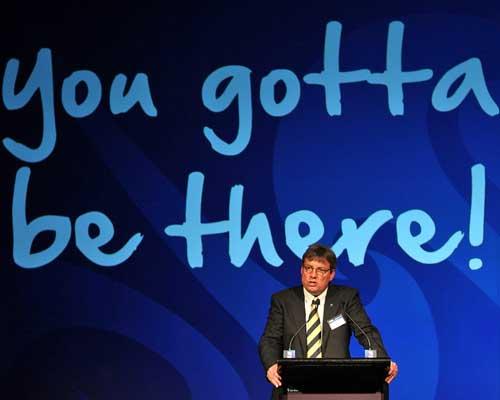 RNZ 2011 chief Martin Snedden speaks at the RWC'11 ticket launch
