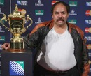 A lucky fan gets up close and personal with the Rugby World Cup