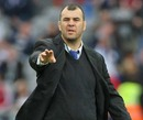Leinster coach Michael Cheika offers some instruction