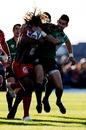 Toulon wing Gabiriele Lovobalavu scraps with Connacht's Frank Murphy