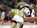 Brisbane's Israel Folau is tackled