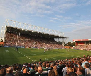 A general view of Leicester's Welford Road ground, Leicester Tigers v Newcastle Falcons, Guinness Premiership, Welford Road, Leicester, England, September 19, 2009