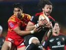 Toulouse fullback Clement Poitrenaud claims a high ball