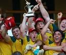 Australia celebrate winning the London 7s title