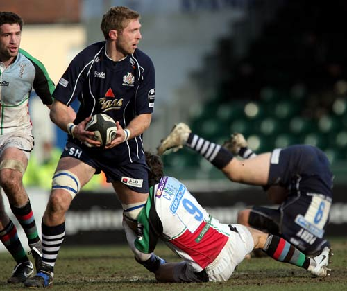 Bristol's Sean Hohneck tries to make a break