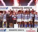 Samoa celebrate winning the Edinburgh 7s crown