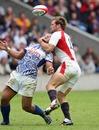 England's Greg Barden tackles Samoa's Alafoti Fa'osiliva