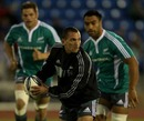 New All Black Aaron Cruden prepares to pass during training