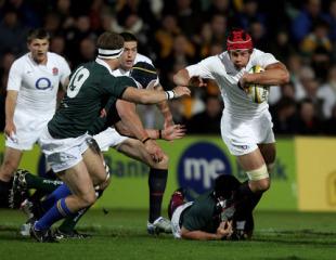 Dan Ward-Smith surges forward against the Australian Barbarians