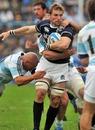 Scotland's John Barclay looks to protect the ball