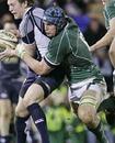 Ireland's Rhys Ruddock tackles Scotland's Andrew White