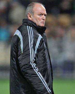 New Zealand coach Graham Henry awaits his side's clash with Ireland, New Zealand v Ireland, Yarrow Stadium, New Plymouth, New Zealand, June 12, 2010