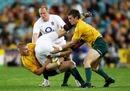 Australia wing Drew Mitchell flips Ben Foden
