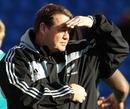 All Blacks assistant coach Steve Hansen casts an eye over training