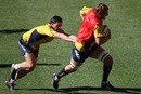 Australia lock Dean Mumm evades Adam Ashley-Cooper