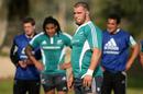 Owen Franks looks on during All Blacks training