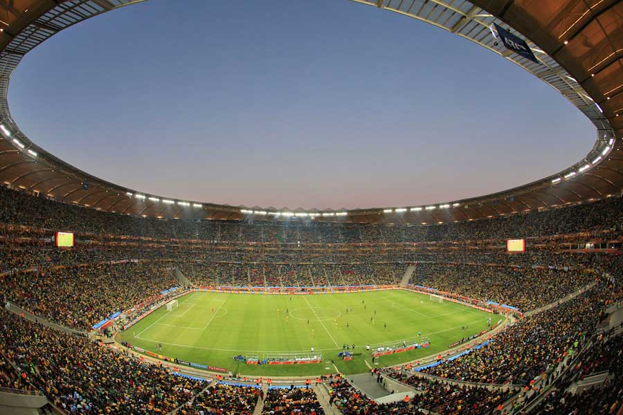A general view of the National Stadium in Johannesburg