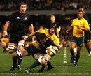 New Zealand skipper Richie McCaw forces his way over
