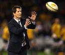 Australia coach Robbie Deans catches a ball