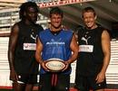 Toulon's Paul Sackey, Tom May and Jonny Wilkinson