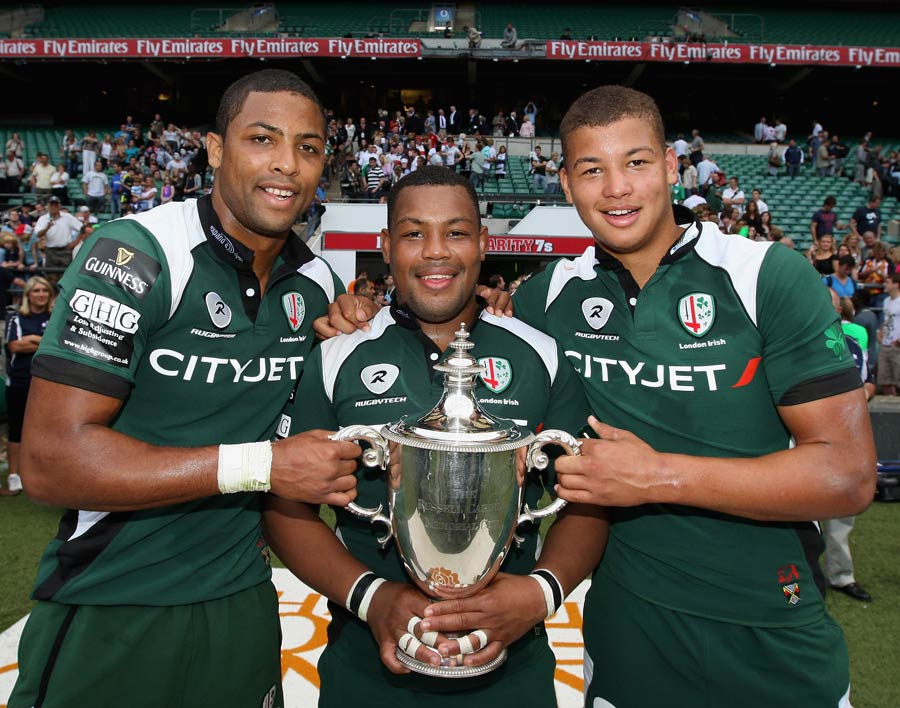 The Armitage brothers with the Middlesex Sevens title