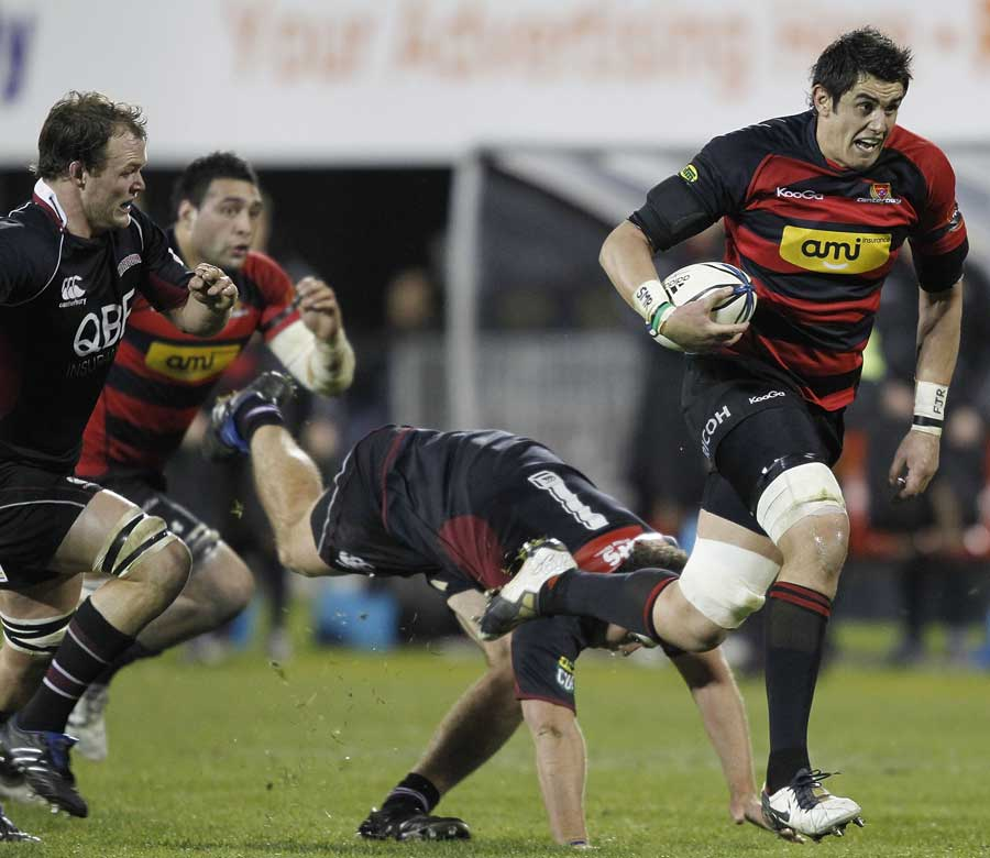 Canterbury's Isaac Ross charges forward