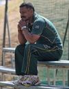 South Africa coach Peter de Villiers casts an eye over training