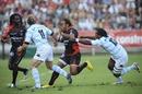 Toulon centre Gabirieli Lovobalavu takes on the Racing defence