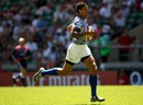 Samoa's Mikaele Pesamino scores a try