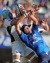 Montpellier's Drikus Hancke claims a lineout
