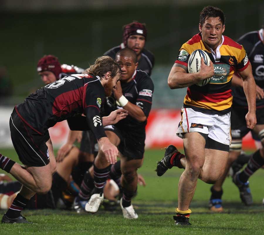 Jack Lam makes a break for Waikato