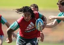 All Blacks centre Ma'a Nonu slips a tackle during training