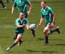 All Blacks fly-half Aaron Cruden fires a pass during training