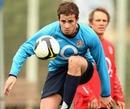 England's Danny Cipriani controls a football