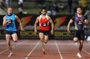 Wallabies wing Lachie Turner races NRL stars Greg Inglis and Jarryd Hayne
