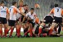 Cheetahs scrum-half Tewis de Bruyn fires a pass